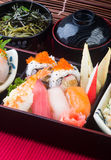 Japanese cuisine. lunch box set on the background Royalty Free Stock Image