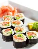 Japanese Cuisine - Maki Sushi Royalty Free Stock Photo