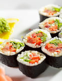 Japanese Cuisine - Maki Sushi Royalty Free Stock Image