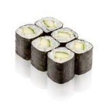 Japanese cuisine. Maki sushi. On white background Stock Photography