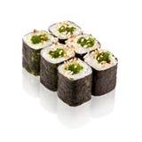 Japanese cuisine. Maki sushi. On white background Stock Images