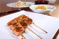 Japanese cuisine skewers Royalty Free Stock Photo
