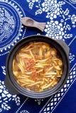 Japanese cuisine mushroom sukiyaki hot pot Stock Images