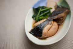 Japanese Cuisine Nizakana (poached Flatfish) Stock Photography