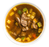 Japanese cuisine, noodle with pork in miso soup Royalty Free Stock Image