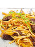 Japanese Cuisine - Noodles with Meat Royalty Free Stock Photos