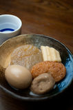Japanese Cuisine Oden and sake Royalty Free Stock Images