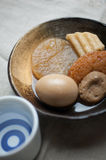 Japanese Cuisine Oden and sake Stock Image