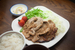 Japanese Cuisine Pork Shogayaki Royalty Free Stock Images