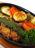 Japanese Cuisine - Pork with Vegetables Royalty Free Stock Photo
