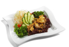 Japanese Cuisine - Pork with Vegetables Stock Photography