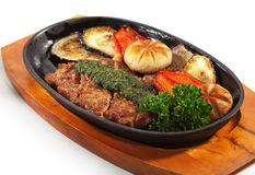 Japanese Cuisine - Pork with Vegetables Stock Photos