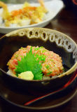 Rice with Maguro minced fish Stock Photography