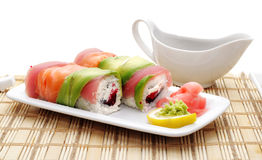 Japanese Cuisine - Rolls Royalty Free Stock Photo