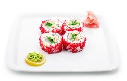 Japanese Cuisine - Rolls in Caviar Stock Photos