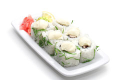 Free Japanese Cuisine - Rolls With Sauce And Greens Stock Images - 6308184