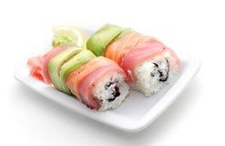 Japanese Cuisine - Salmon Roll Stock Image