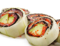 Japanese Cuisine - Salmon Rolls Royalty Free Stock Images