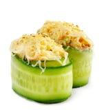 Japanese Cuisine - Salmon Sushi Stock Images