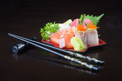 Japanese cuisine. sashimi on the background Stock Image