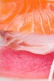 Japanese cuisine. sashimi on the background Stock Photo