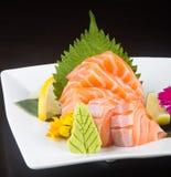 Japanese cuisine. sashimi on the background Stock Image