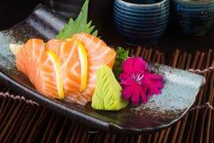 Japanese cuisine. sashimi on the background Royalty Free Stock Photo