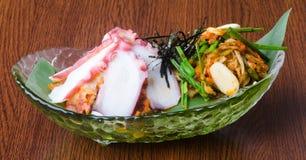 Japanese cuisine. sashimi on the background Stock Photography