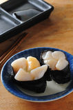 Scallop sushi rice Stock Photo
