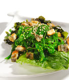 Japanese Cuisine - Seaweed Salad Stock Photos