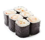 Japanese Cuisine - Shrimp Roll Stock Photos