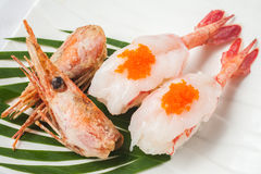 Japanese cuisine shrimp  sushi Royalty Free Stock Photography