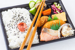 Japanese cuisine a single-portion takeout Royalty Free Stock Photo