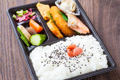 Japanese cuisine a single-portion takeout Stock Images