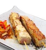 Japanese Cuisine - Skewered Fish Royalty Free Stock Photo