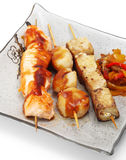 Japanese Cuisine - Skewered Seafood Royalty Free Stock Image