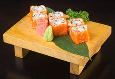 Japanese cuisine. sushi on the background Stock Photos