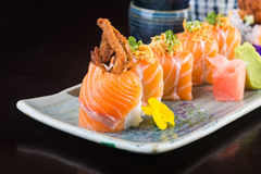 Japanese cuisine. sushi on the background Royalty Free Stock Photography