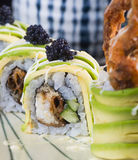 Japanese cuisine. sushi on the background Stock Images