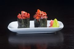 Japanese cuisine. sushi octopus on the background. Japanese cuisine. sushi octopus on background Stock Images