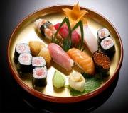 Japanese Cuisine -sushi. Sushi on the plate set sushi , Japanese Food chabu chabu Royalty Free Stock Images
