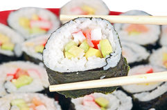 Japanese cuisine - sushi roll Royalty Free Stock Images
