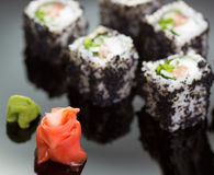 Japanese Cuisine - Sushi roll Royalty Free Stock Image