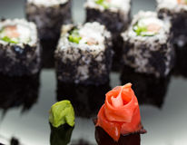 Japanese Cuisine - Sushi roll Royalty Free Stock Photo