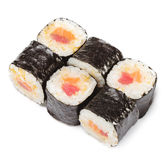 Japanese Cuisine - Sushi Rolls Stock Photo