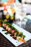 Japanese cuisine sushi rolls Royalty Free Stock Image