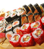 Japanese Cuisine - Sushi Set Stock Photos