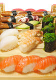 Japanese Cuisine - Sushi Set Royalty Free Stock Photography