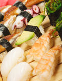 Japanese Cuisine - Sushi Set Stock Images