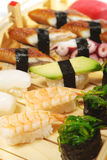 Japanese Cuisine - Sushi Set Royalty Free Stock Image